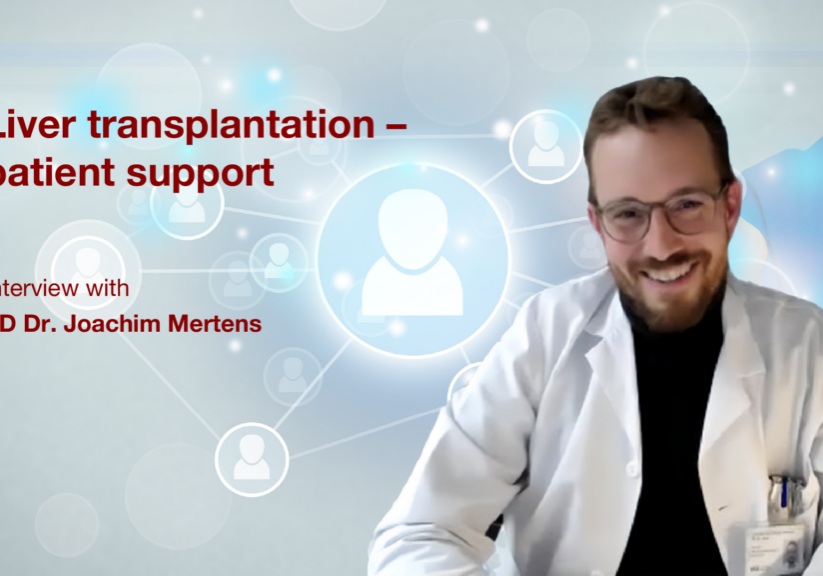 """""""When does a liver transplant become necessary?"""" PD Dr. Mertens faces this and other comprehensive questions in the interview. He makes the serious clarifications and far-reaching coordination around a vital topic clear to us and raises awareness of how important the liver is."""